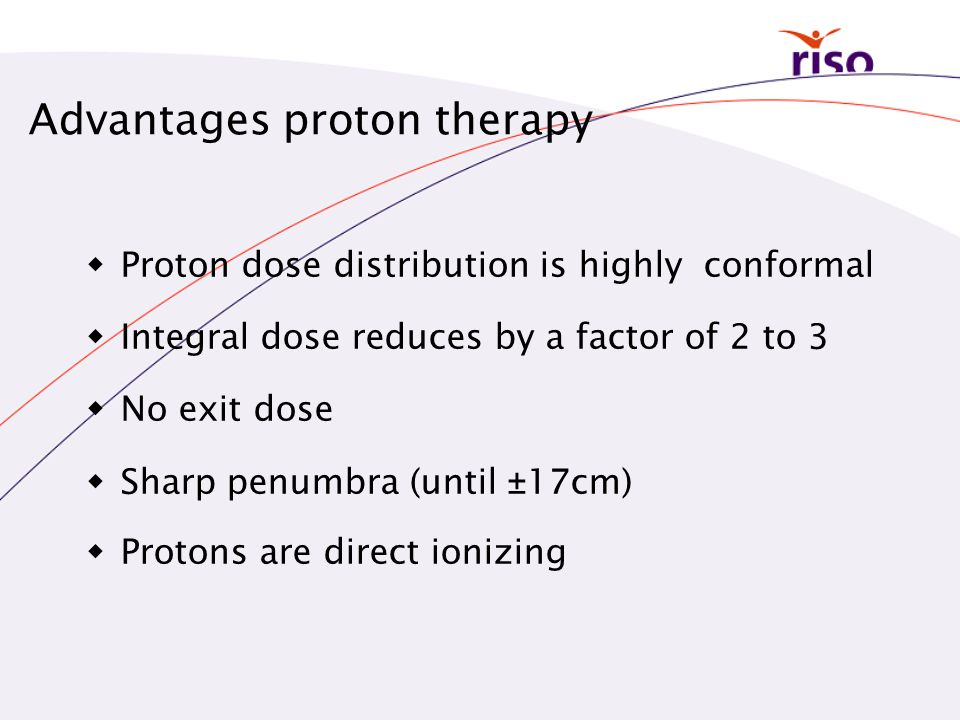 Advantages proton therapy