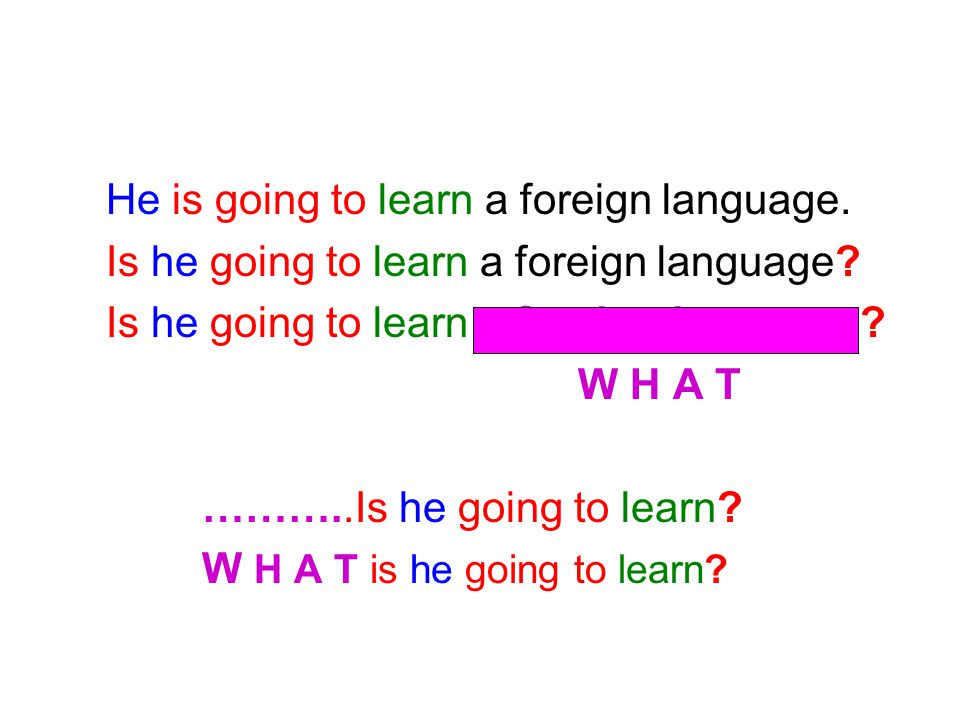 He is going to learn a foreign language.