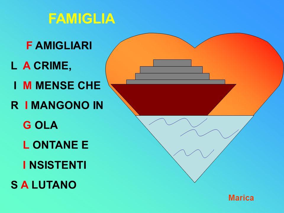 FAMIGLIA F AMIGLIARI L A CRIME, I M MENSE CHE R I MANGONO IN G OLA