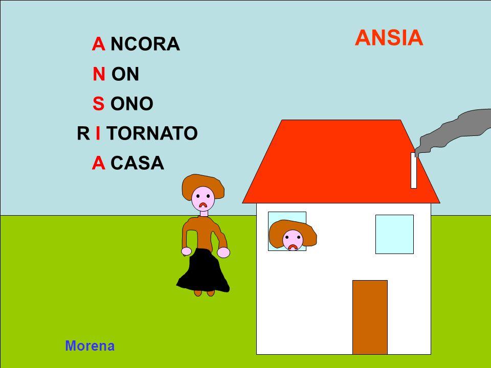 ANSIA A NCORA N ON S ONO R I TORNATO A CASA Morena