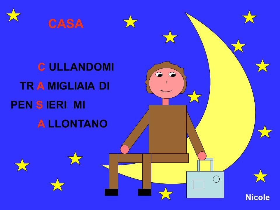 CASA C ULLANDOMI TR A MIGLIAIA DI PEN S IERI MI A LLONTANO Nicole
