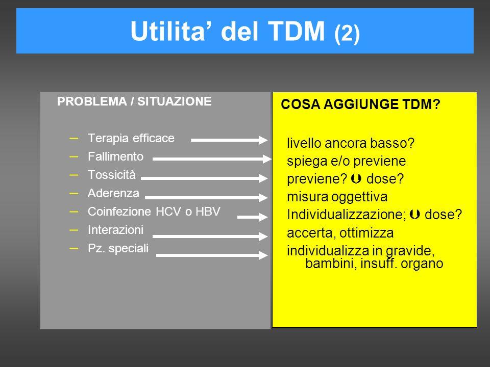 Utilita' del TDM (2) livello ancora basso spiega e/o previene