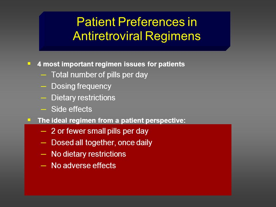 Patient Preferences in Antiretroviral Regimens
