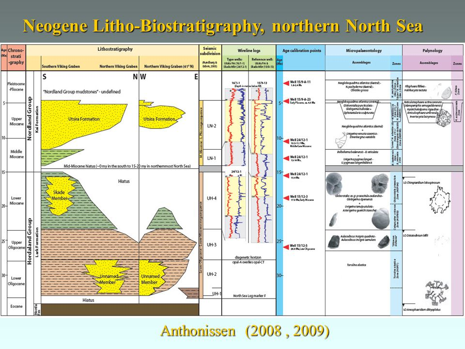 Neogene Litho-Biostratigraphy, northern North Sea