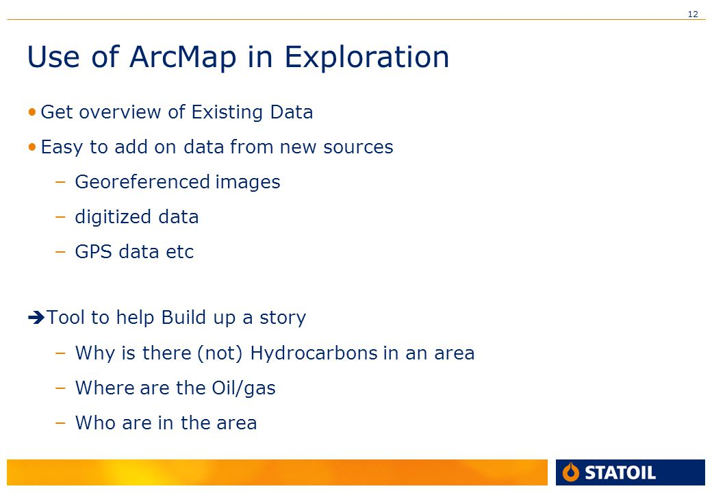 Use of ArcMap in Exploration