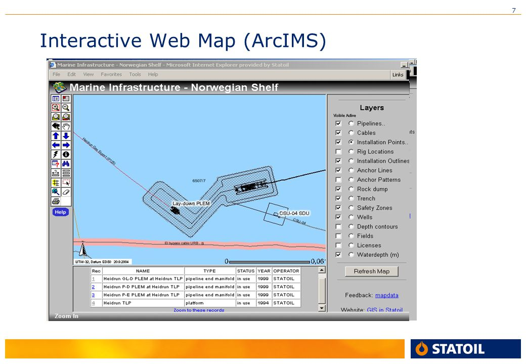 Interactive Web Map (ArcIMS)