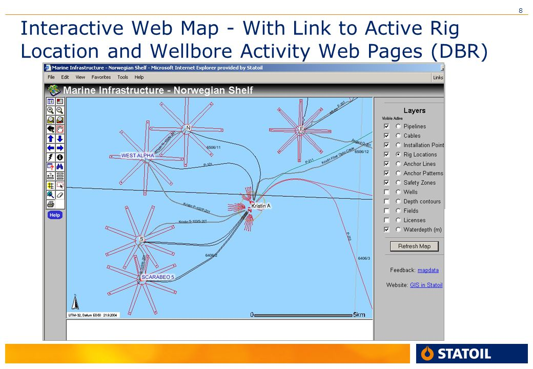 Interactive Web Map - With Link to Active Rig Location and Wellbore Activity Web Pages (DBR)