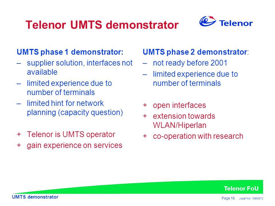 Telenor UMTS demonstrator