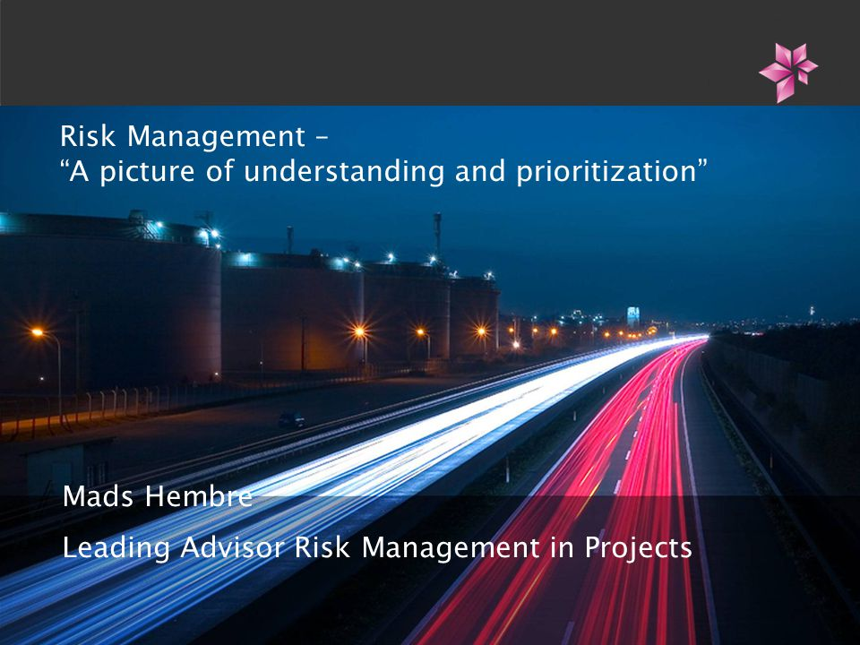 Risk Management – A picture of understanding and prioritization