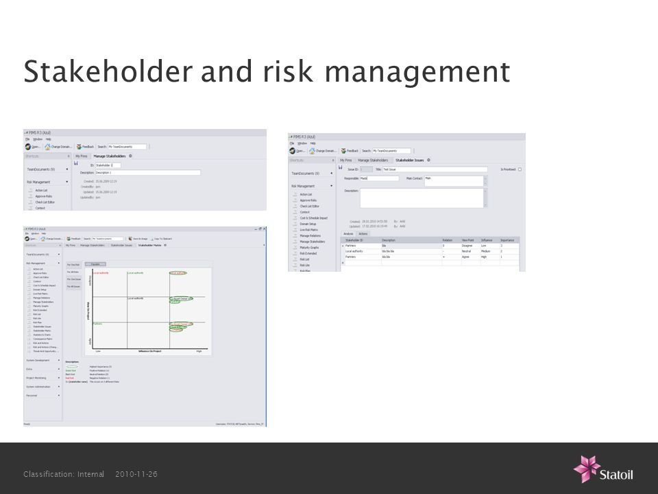 Stakeholder and risk management
