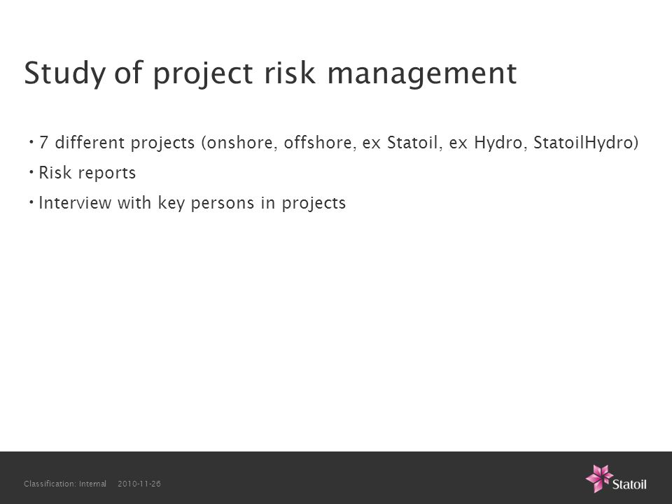 Study of project risk management