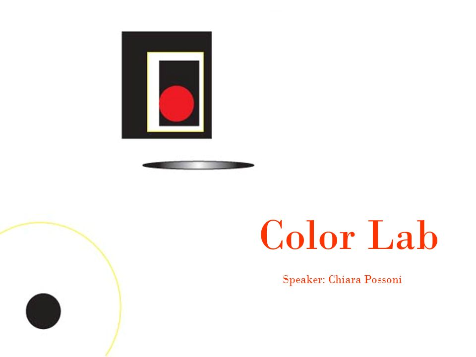 Color Lab Speaker: Chiara Possoni