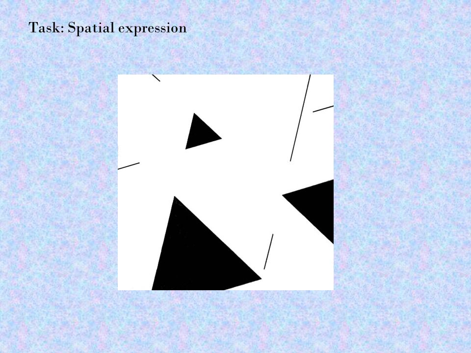 Task: Spatial expression