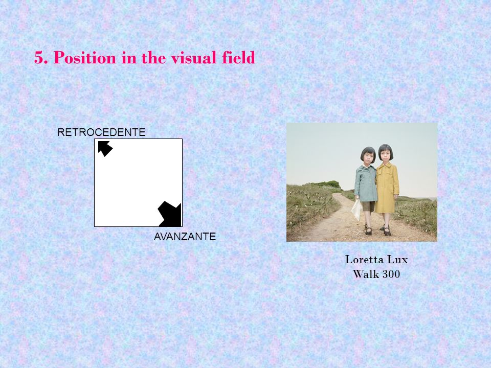 5. Position in the visual field