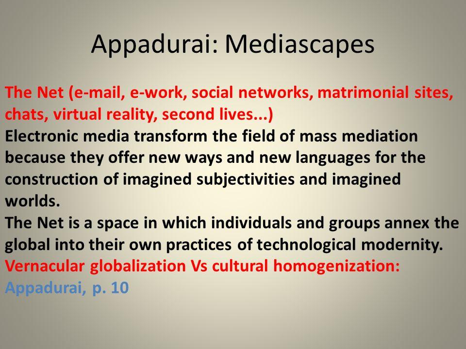 Appadurai: Mediascapes