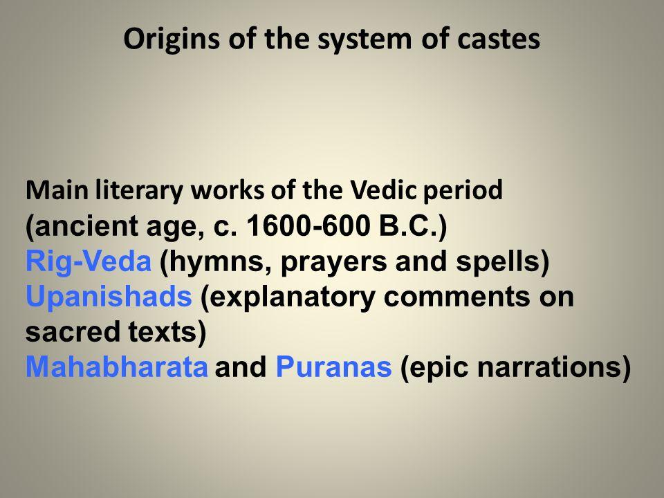 Origins of the system of castes