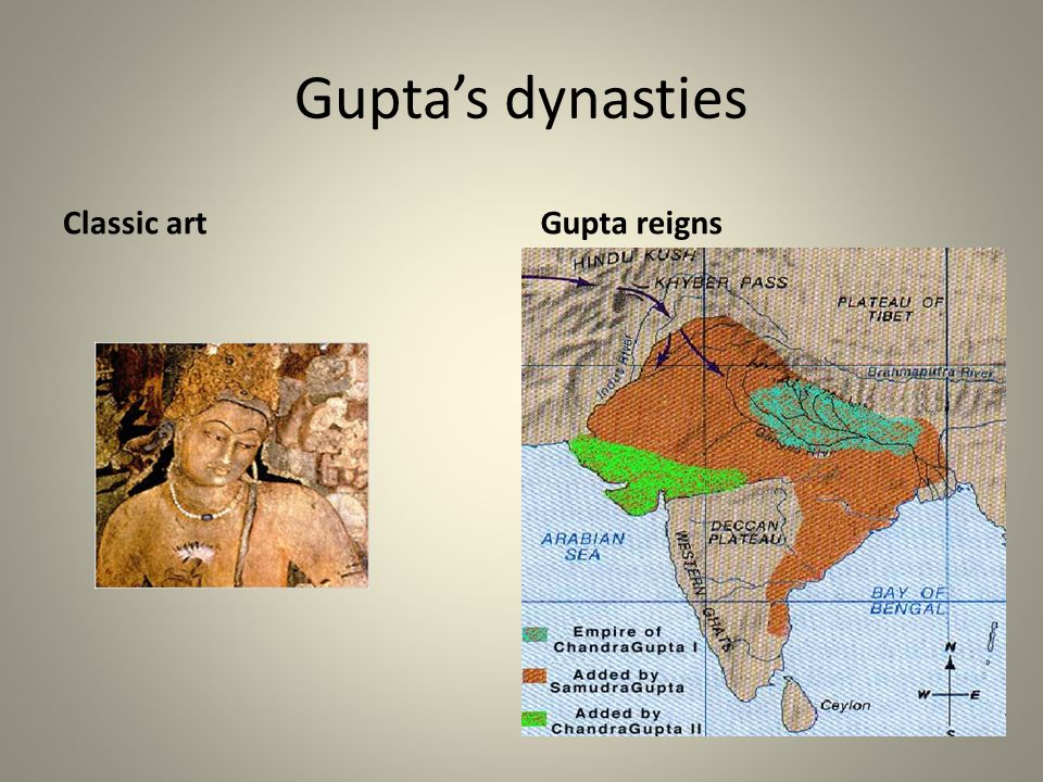 Gupta's dynasties Classic art Gupta reigns