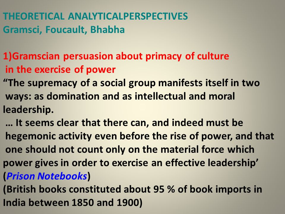 THEORETICAL ANALYTICALPERSPECTIVES