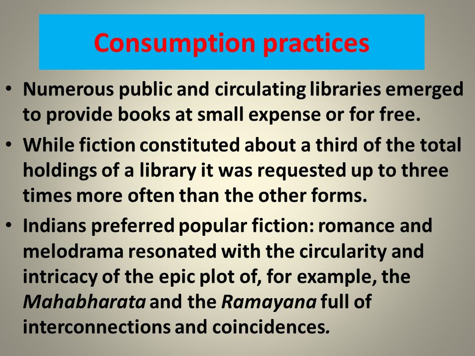 Consumption practices