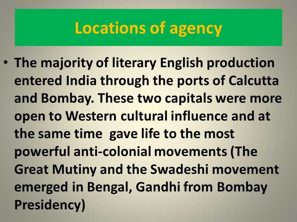 Locations of agency