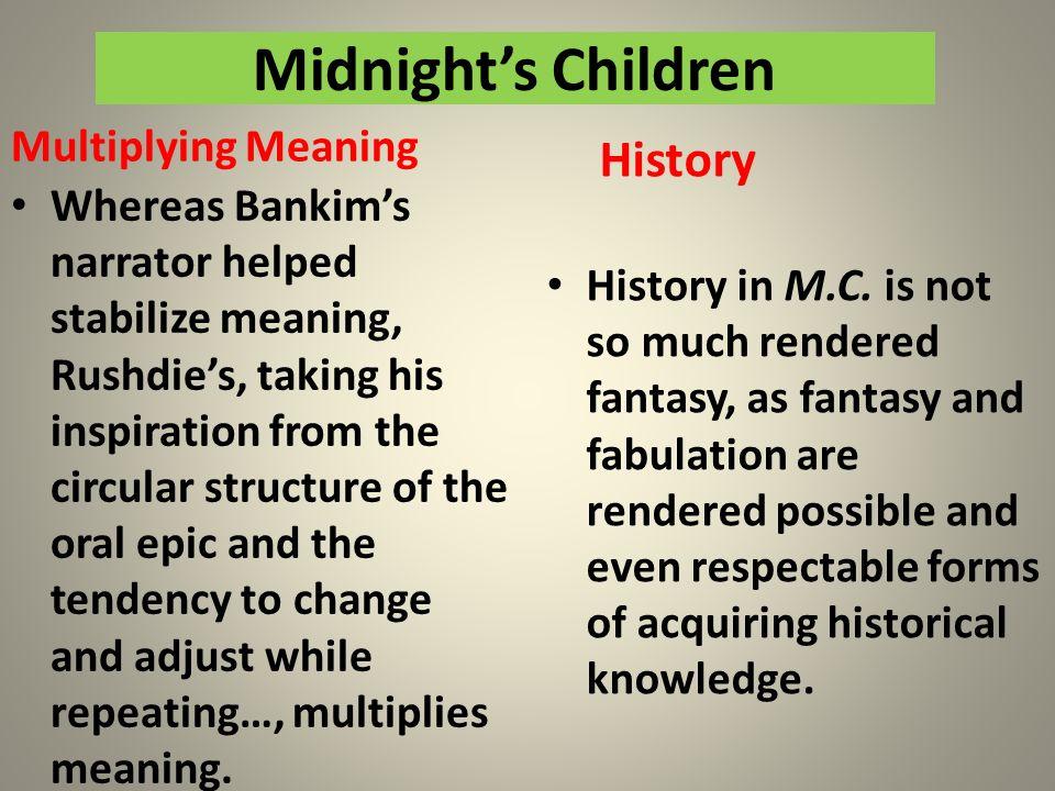 Midnight's Children History Multiplying Meaning