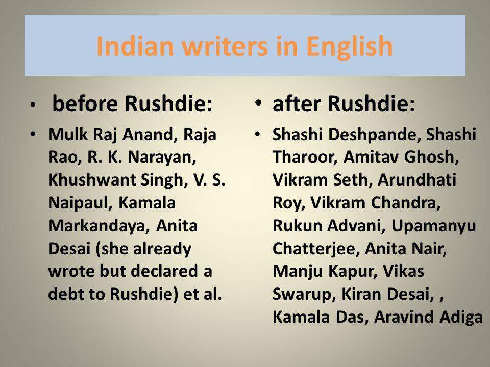 Indian writers in English