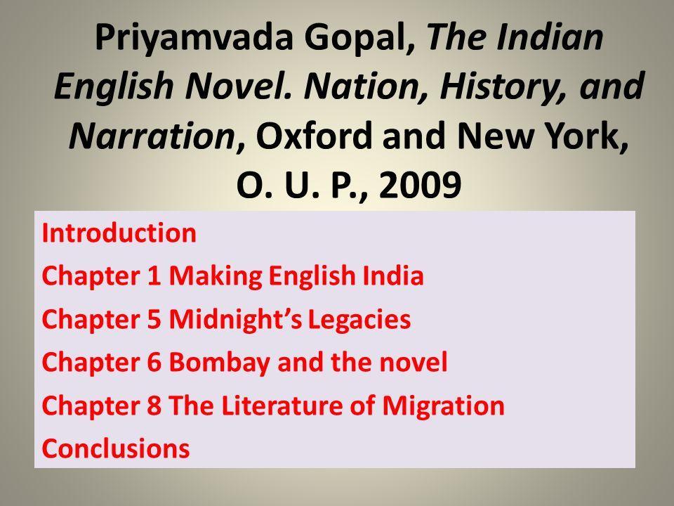 Priyamvada Gopal, The Indian English Novel