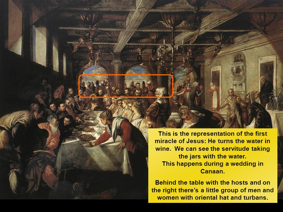 Nozze di Cana Tintoretto 1563-1563, olio su tela Parigi, Louvre