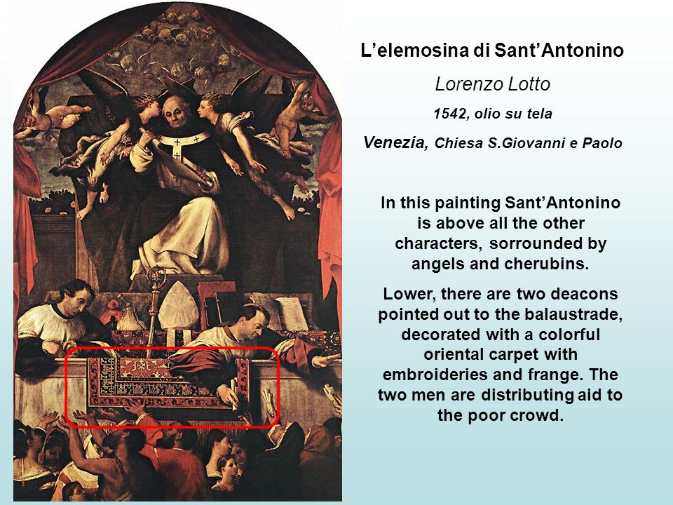 L'elemosina di Sant'Antonino Venezia, Chiesa S.Giovanni e Paolo