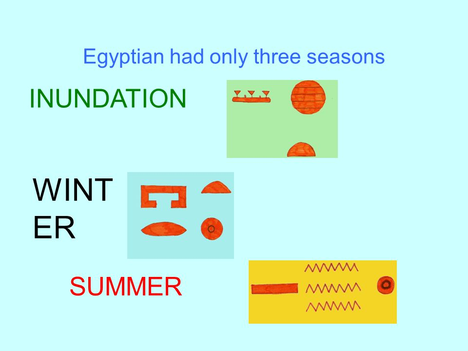 Egyptian had only three seasons