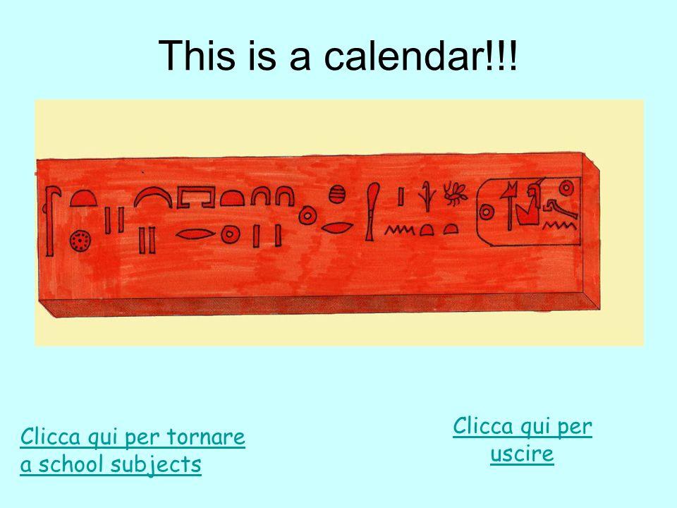 This is a calendar!!! Clicca qui per uscire