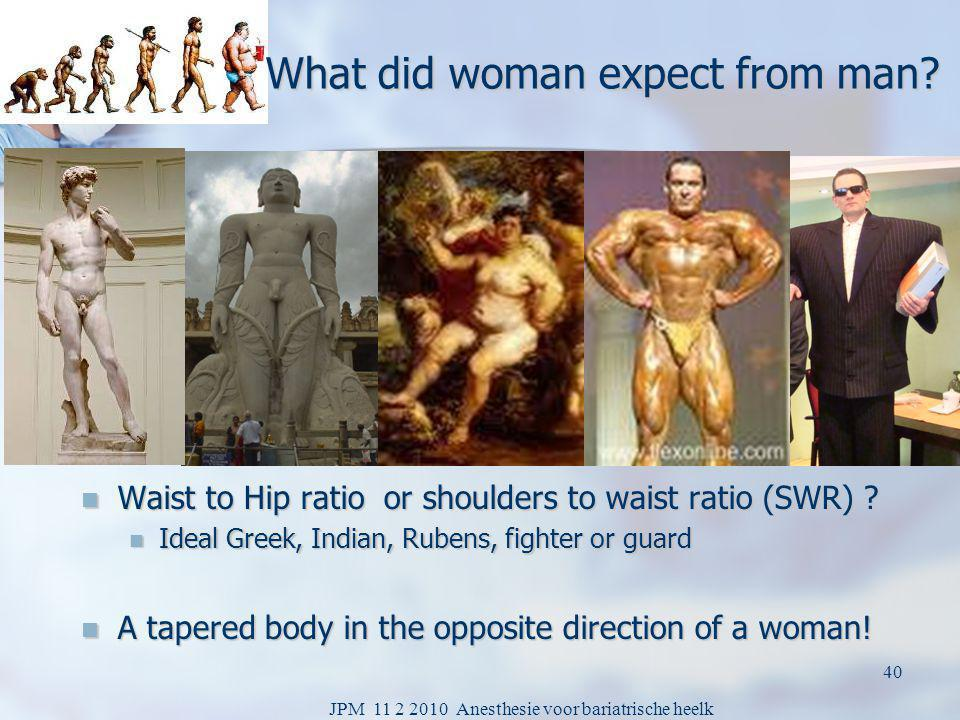 What did woman expect from man