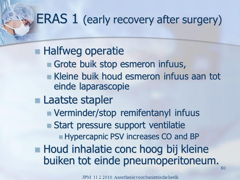 ERAS 1 (early recovery after surgery)