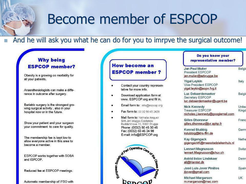 Become member of ESPCOP