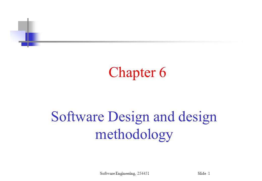 Software Design and design methodology