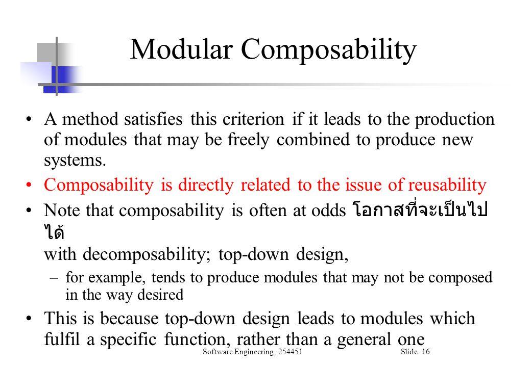 Modular Composability