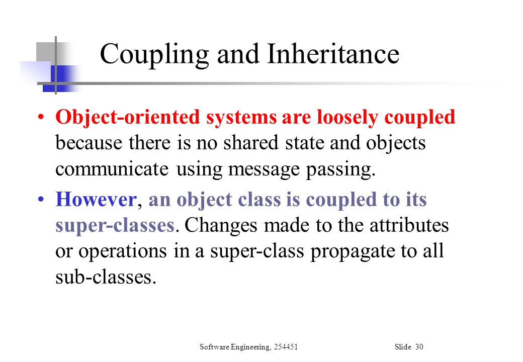 Coupling and Inheritance