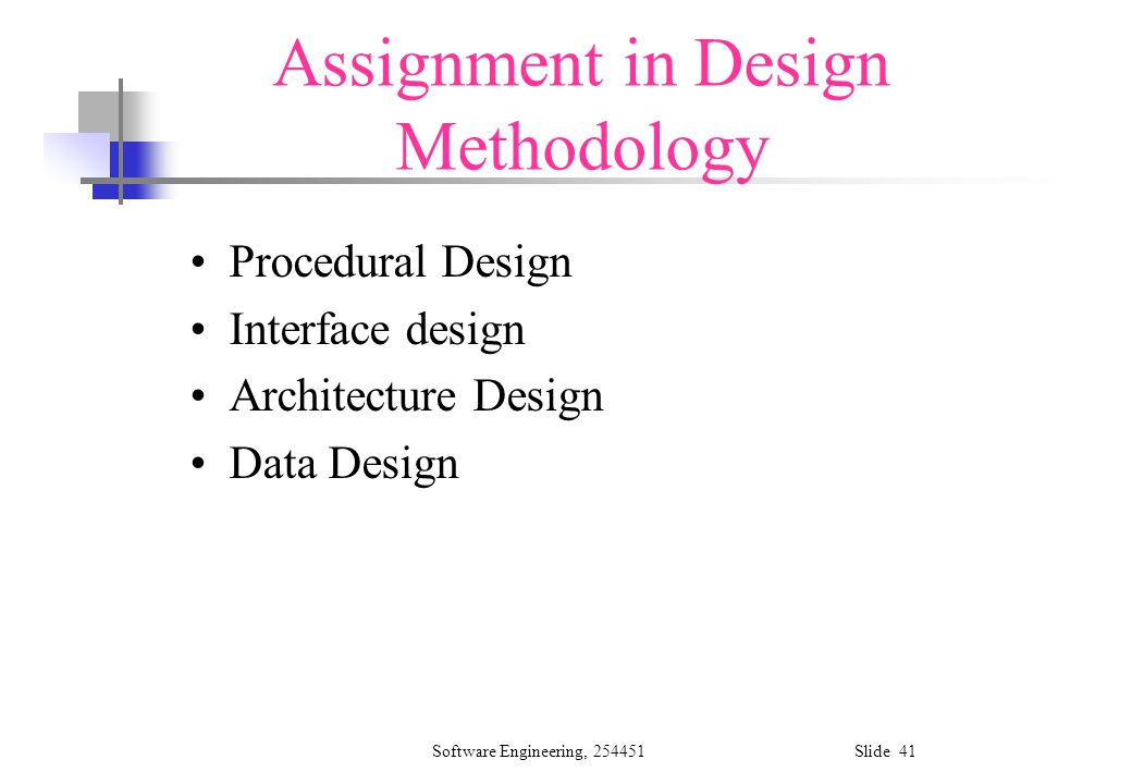 Architecture Design Methodology software design and design methodology - ppt download