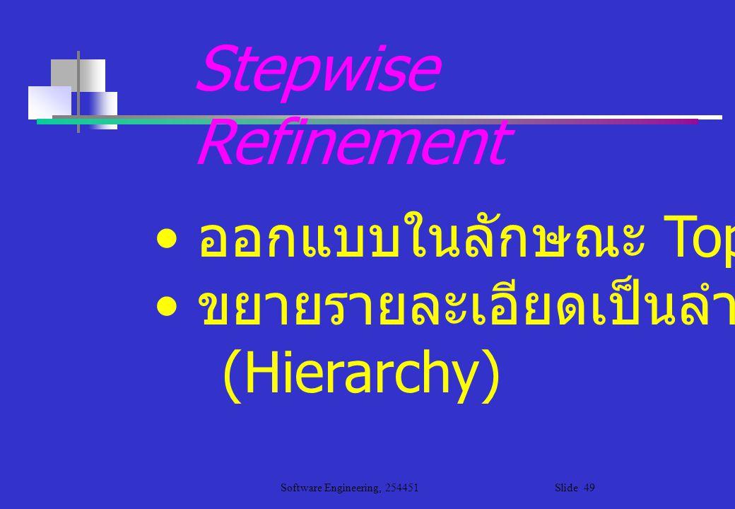 Stepwise Refinement ออกแบบในลักษณะ Top-down