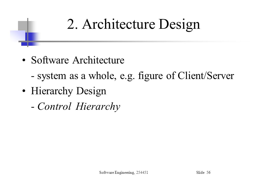 2. Architecture Design Software Architecture