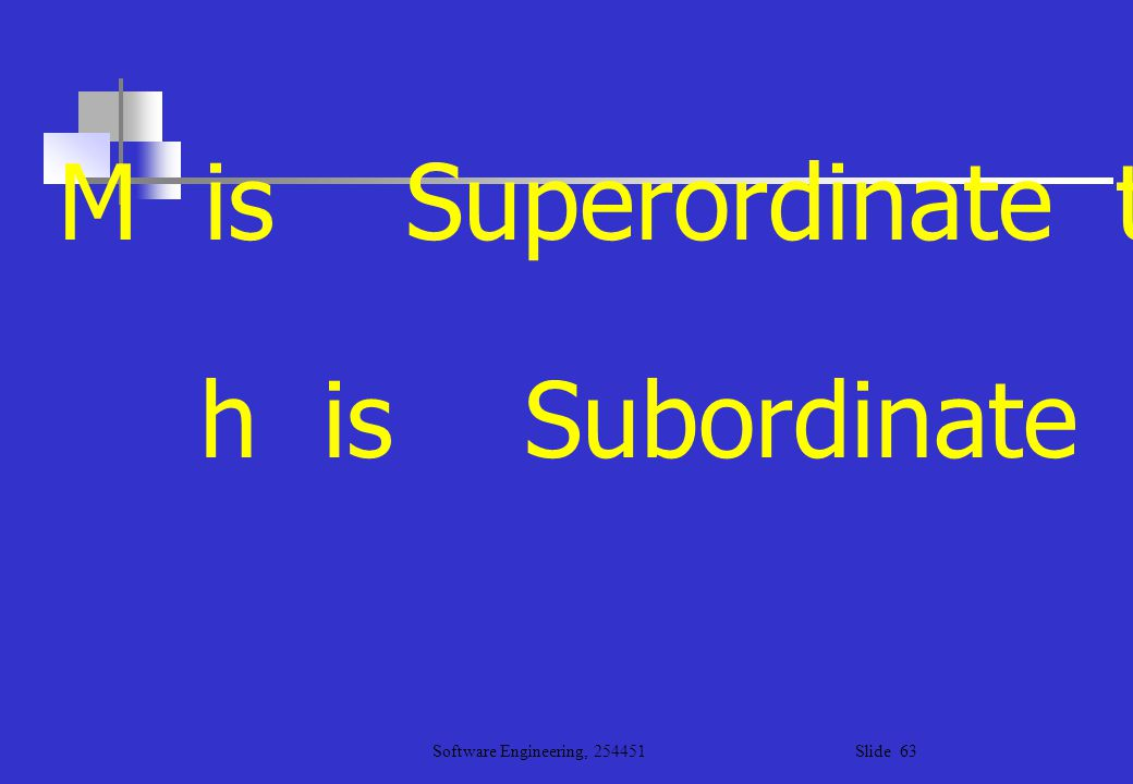 M is Superordinate to a , b , c