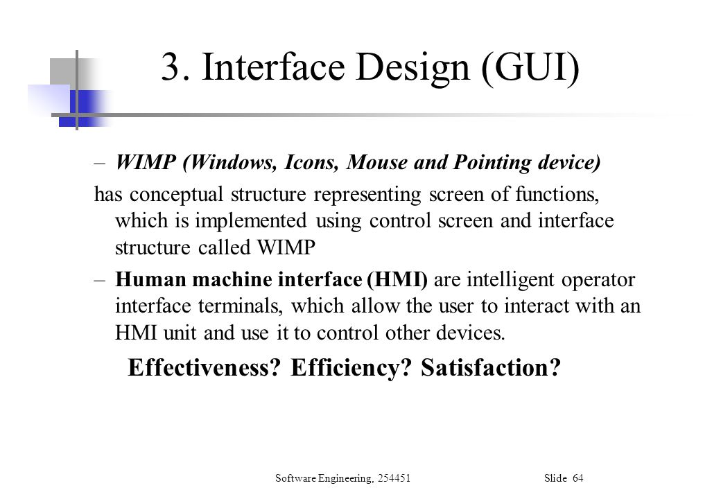 3. Interface Design (GUI)