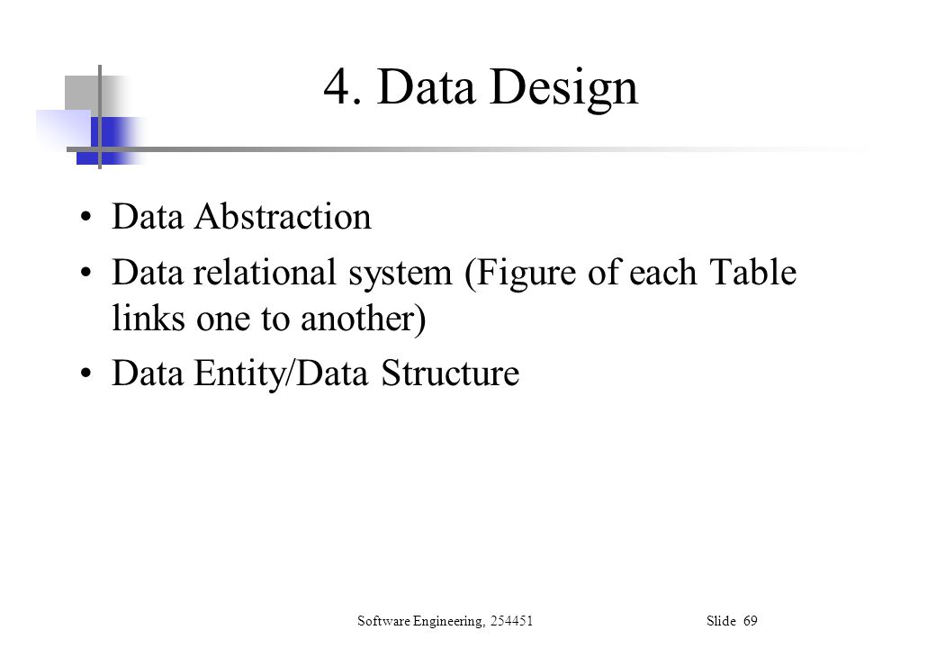 4. Data Design Data Abstraction