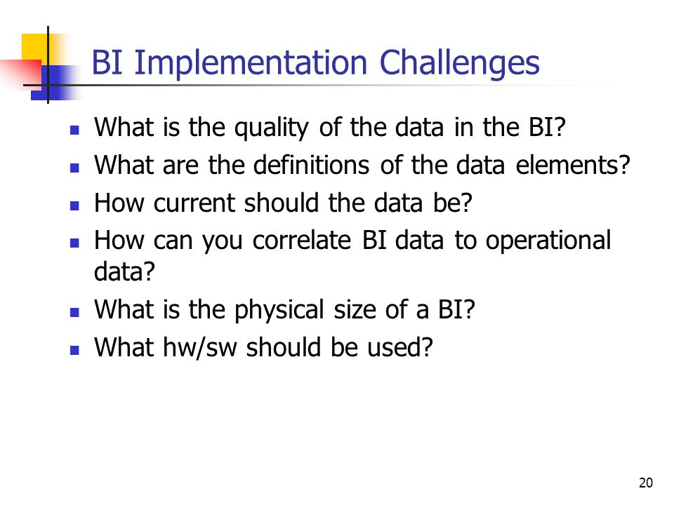 BI Implementation Challenges