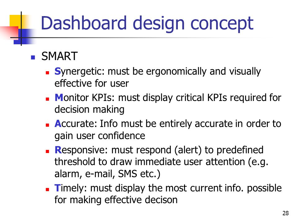 Dashboard design concept