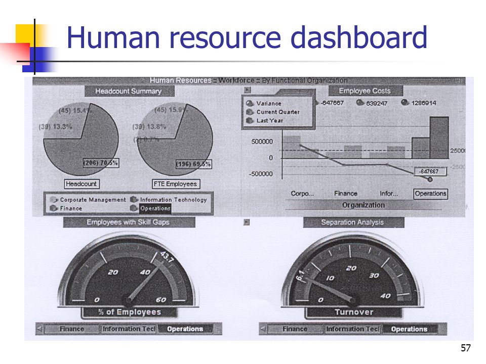 Human resource dashboard