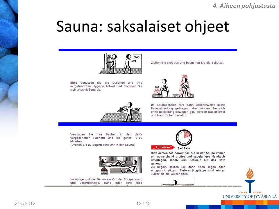 Sauna: saksalaiset ohjeet