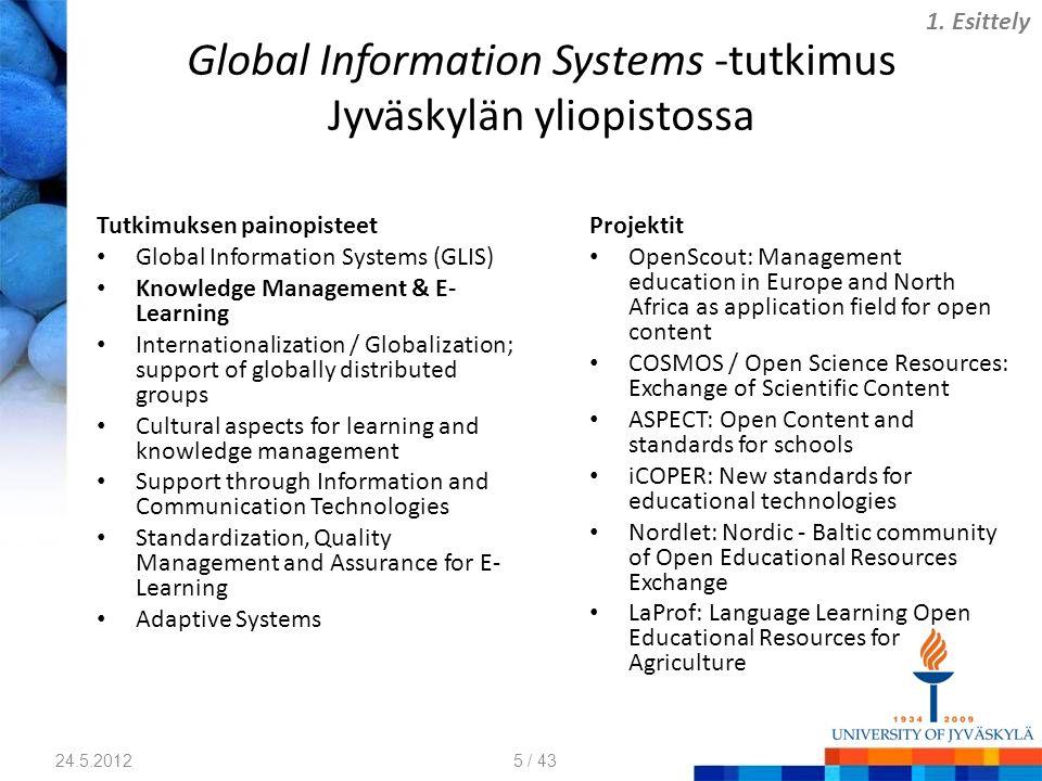 Global Information Systems -tutkimus Jyväskylän yliopistossa