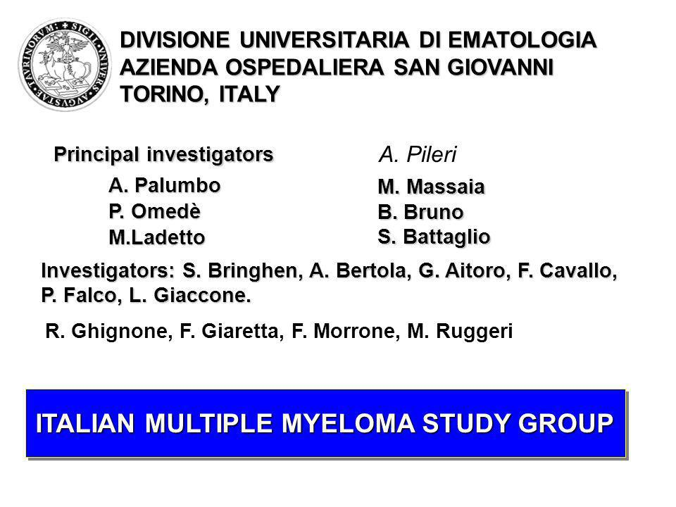 ITALIAN MULTIPLE MYELOMA STUDY GROUP