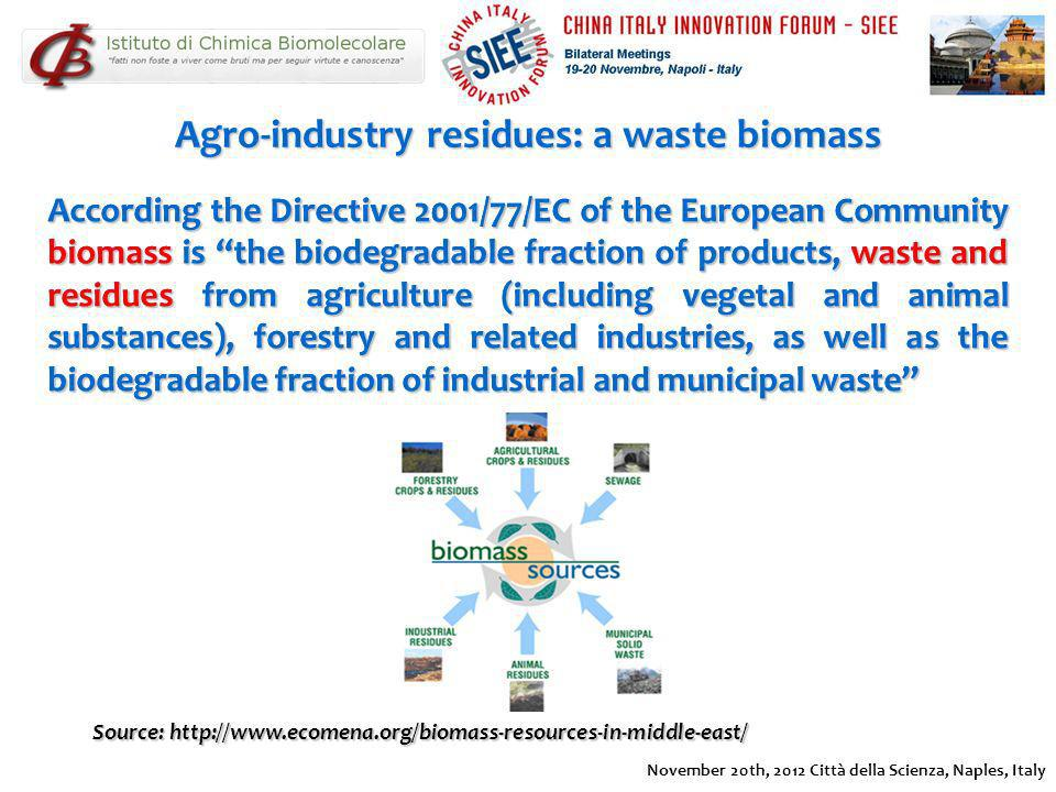 Agro-industry residues: a waste biomass